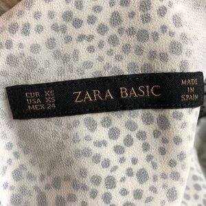Zara Pants - ZARA Spotted Romper Jumpsuit Black White XS